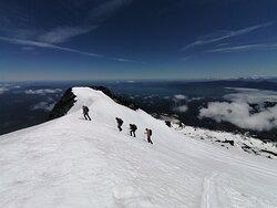 Clientes felices en el Volcán Villarrica!