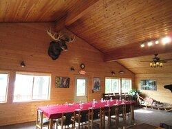 Dining hall at Farm Lodge