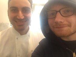 Ed Sheeran visiting