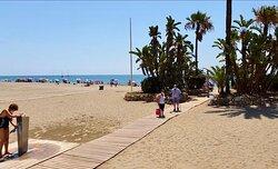 Town beach, lovely sand