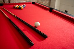 Games room with pool table and darts