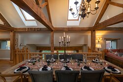 Group dining of up to 12 in the Hay Barn and 10 in the Grand Barn.
