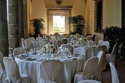 Wedding dinner under the Loggia