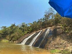Parte da cachoeira