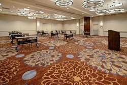 Tables and chairs disinfected before the meeting and during breaks