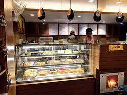 Display counter at Honey Hut Ramjhula
