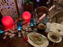 Really fantastic experience on this amazing Arabic restaurant.  The food was so tasty, but I have to tell that the service and the great cocktails from Ms.  Karyl did our honey moon really special. The service from Bhanu was super good.   Highly recommend the restaurant for any romantic dates.