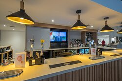 A great selection of drinks and food in our new bar area
