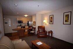 Livingroom area in the One Bedroom Suite