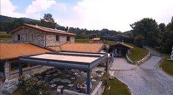 Vista della terrazza bar / ristorante dall alto