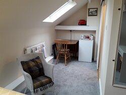 The Sleeper single room  work/refreshment area