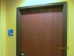 Outside of Room #303.