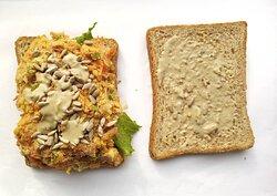 chickpea sunflower seed sandwich