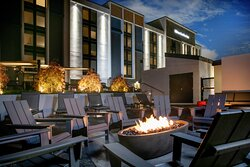 Enjoy a hand crafted cocktail or a glass of wine by one of our six different firepits