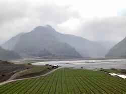 農場前蘭陽溪谷景