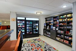 Our Candlewood Cupboard offers groceries 24 hours a day.