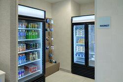 Enjoy the grab & go marketplace for drinks or snacks.
