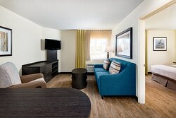 ADA One Bedroom Suite with Full Size Sleeper Sofa