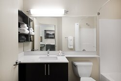 Bathroom With Hairdryer