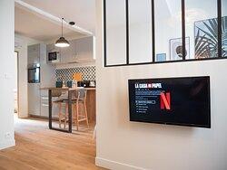Appartement cosy, internet haut débit et Netflix
