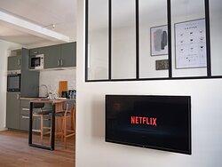 Appartement cocon, internet haut débit et Netflix