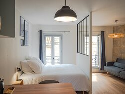 Appartement cocon, lit queen size