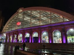Liverpool Lime Street Railway Station in St George's Quarter.