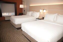 TWO PLUSH TRIPLE SHEET BEDS
