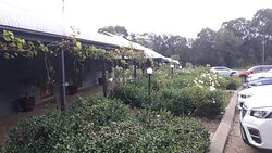 Nice garden outside the restaurant