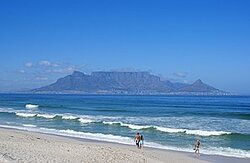 Cape Town mountain from Blouberg beach
