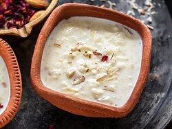 KHEER  Indische Sußiskeitspezialität mit Vermicelli und Milch