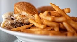 Check out our deliciously jam packed Cheesesteak for lunch or dinner! Photo: Justin Huard