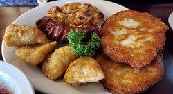 polish platter with fried pierogies