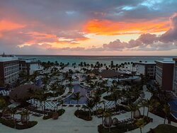 The view from room 1820 at sunrise.