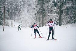 Skiing competition in Mežinieki