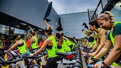Spinning outdoor event gym Bfit Ibiza Sports Clu