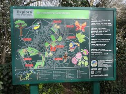 Brenchley Garden, Honor Oak, South London: information board at he entrance on Forest Hill Road