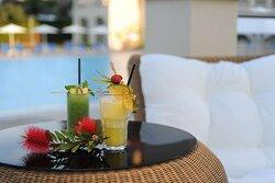 Aqua Pool Bar Cocktails
