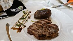 Steak in the restaurant of Belchin Spring SPA complex, photo by placescases.com