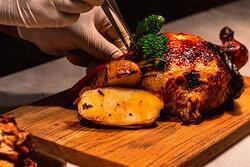 Roast Chicken and roast potatos