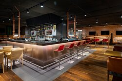 Time to unwind after work at the Stock Burger bar