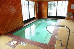Relax in our oversized indoor hot tub