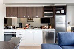 Quest Echuca One Bedroom Apartment Kitchen