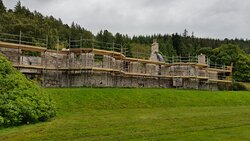 Boleskine house just before planning permission was granted and restoration commenced.