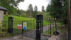 Boleskine gates at the gatehouse