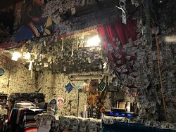 The inside is COVERED in Dollar Bills!