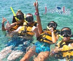 Snorkeling time at jungle tour Adventure Cancun