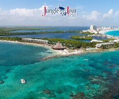 amazing view of Nizuc Coral Reef. Our final stop of our Jungle Tour Adventure in Cancun