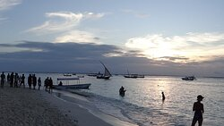 Sunset at Kendwa beach