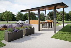 Our gazebo area features 2 large BBQ's and seating area.